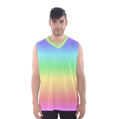Rainbow Colors Men s Basketball Tank Top by LovelyDesigns4U