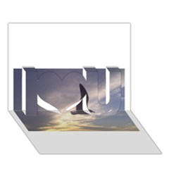 Fly Seagull I Love You 3d Greeting Card (7x5)  by Jamboo