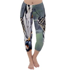 Butterfly 1 Capri Winter Leggings