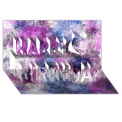 Shabby Floral 2 Happy Birthday 3d Greeting Card (8x4)