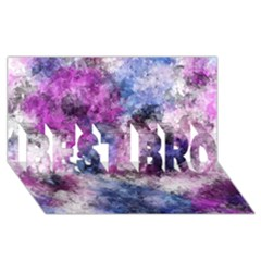 Shabby Floral 2 Best Bro 3d Greeting Card (8x4)  by MoreColorsinLife
