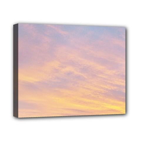 Yellow Blue Pastel Sky Canvas 10  X 8  by Costasonlineshop