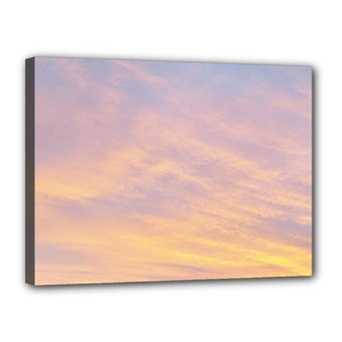 Yellow Blue Pastel Sky Canvas 16  X 12  by Costasonlineshop