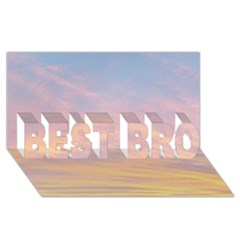 Yellow Blue Pastel Sky Best Bro 3d Greeting Card (8x4)  by Costasonlineshop