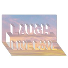 Yellow Blue Pastel Sky Laugh Live Love 3d Greeting Card (8x4)  by Costasonlineshop