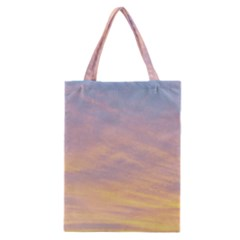 Yellow Blue Pastel Sky Classic Tote Bags by Costasonlineshop
