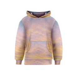 Yellow Blue Pastel Sky Kid s Pullover Hoodies by Costasonlineshop