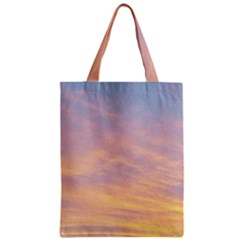 Yellow Blue Pastel Sky Zipper Classic Tote Bags by Costasonlineshop