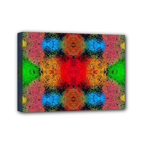 Colorful Goa   Painting Mini Canvas 7  X 5  by Costasonlineshop