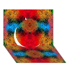Colorful Goa   Painting Circle 3d Greeting Card (7x5)  by Costasonlineshop