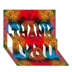 Colorful Goa   Painting Thank You 3d Greeting Card (7x5)  by Costasonlineshop