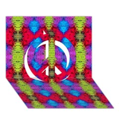 Colorful Painting Goa Pattern Peace Sign 3d Greeting Card (7x5)  by Costasonlineshop