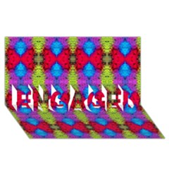 Colorful Painting Goa Pattern Engaged 3d Greeting Card (8x4)  by Costasonlineshop
