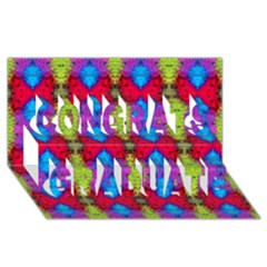 Colorful Painting Goa Pattern Congrats Graduate 3d Greeting Card (8x4)  by Costasonlineshop