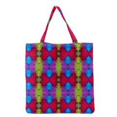 Colorful Painting Goa Pattern Grocery Tote Bags by Costasonlineshop