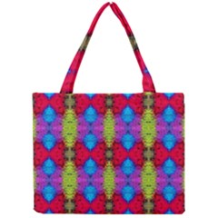 Colorful Painting Goa Pattern Tiny Tote Bags by Costasonlineshop