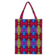Colorful Painting Goa Pattern Classic Tote Bags