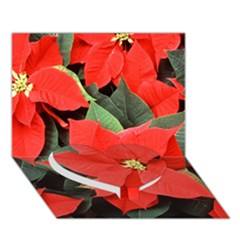Poinsettia Heart Bottom 3d Greeting Card (7x5)  by trendistuff