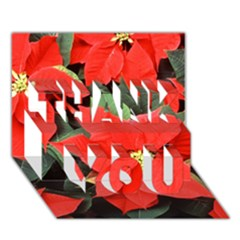 Poinsettia Thank You 3d Greeting Card (7x5)  by trendistuff