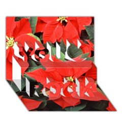 Poinsettia You Rock 3d Greeting Card (7x5)
