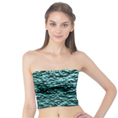 Green Metallic Background, Women s Tube Tops by Costasonlineshop