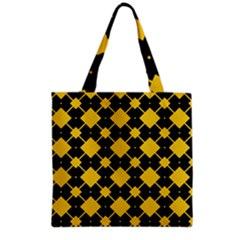 Connected Rhombus Pattern Grocery Tote Bag by LalyLauraFLM