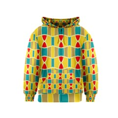 Colorful Chains Pattern Kids Zipper Hoodie