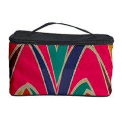 Bended Shapes In Retro Colors Cosmetic Storage Case by LalyLauraFLM