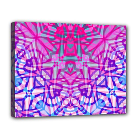 Ethnic Tribal Pattern G327 Canvas 14  X 11  by MedusArt