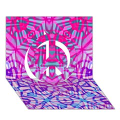 Ethnic Tribal Pattern G327 Peace Sign 3d Greeting Card (7x5)  by MedusArt