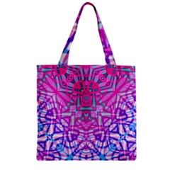Ethnic Tribal Pattern G327 Zipper Grocery Tote Bags by MedusArt
