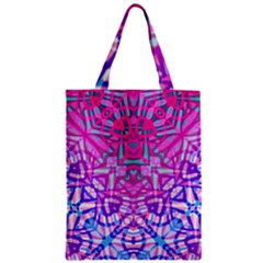 Ethnic Tribal Pattern G327 Zipper Classic Tote Bags by MedusArt