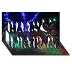 Christmas Lights 2 Happy Birthday 3d Greeting Card (8x4)  by trendistuff