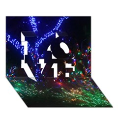 Christmas Lights 2 Love 3d Greeting Card (7x5)