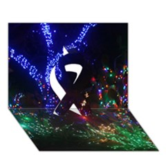 Christmas Lights 2 Ribbon 3d Greeting Card (7x5)  by trendistuff