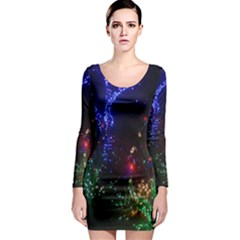 Christmas Lights 2 Long Sleeve Bodycon Dresses by trendistuff