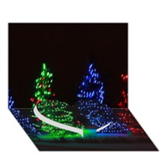 Christmas Lights 1 Heart Bottom 3d Greeting Card (7x5)  by trendistuff