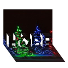 Christmas Lights 1 Hope 3d Greeting Card (7x5)  by trendistuff