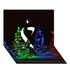 Christmas Lights 1 Ribbon 3d Greeting Card (7x5)  by trendistuff