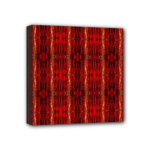 Red Gold, Old Oriental Pattern Mini Canvas 4  X 4  by Costasonlineshop