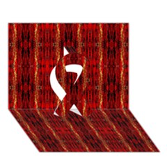 Red Gold, Old Oriental Pattern Ribbon 3d Greeting Card (7x5)  by Costasonlineshop