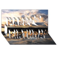 Sun Reflected On Lake Happy Birthday 3d Greeting Card (8x4)  by trendistuff
