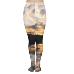 Sun Reflected On Lake Women s Tights by trendistuff