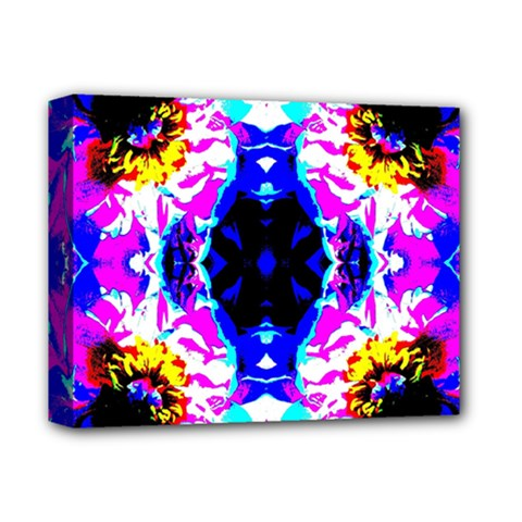 Animal Design Abstract Blue, Pink, Black Deluxe Canvas 14  X 11  by Costasonlineshop