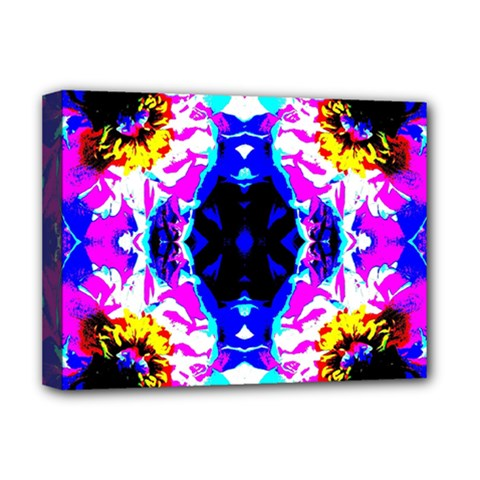 Animal Design Abstract Blue, Pink, Black Deluxe Canvas 16  X 12   by Costasonlineshop