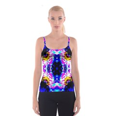 Animal Design Abstract Blue, Pink, Black Spaghetti Strap Tops by Costasonlineshop
