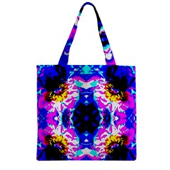 Animal Design Abstract Blue, Pink, Black Zipper Grocery Tote Bags by Costasonlineshop