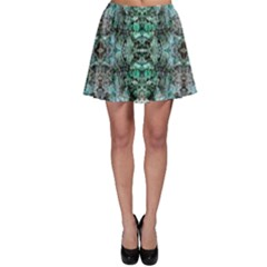Green Black Gothic Pattern Skater Skirts by Costasonlineshop