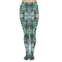 Green Black Gothic Pattern Women s Tights by Costasonlineshop