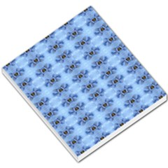 Pastel Blue Flower Pattern Small Memo Pads by Costasonlineshop